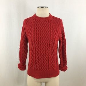 Gap- Red Chunky Knit Crewneck Sweater Size Small